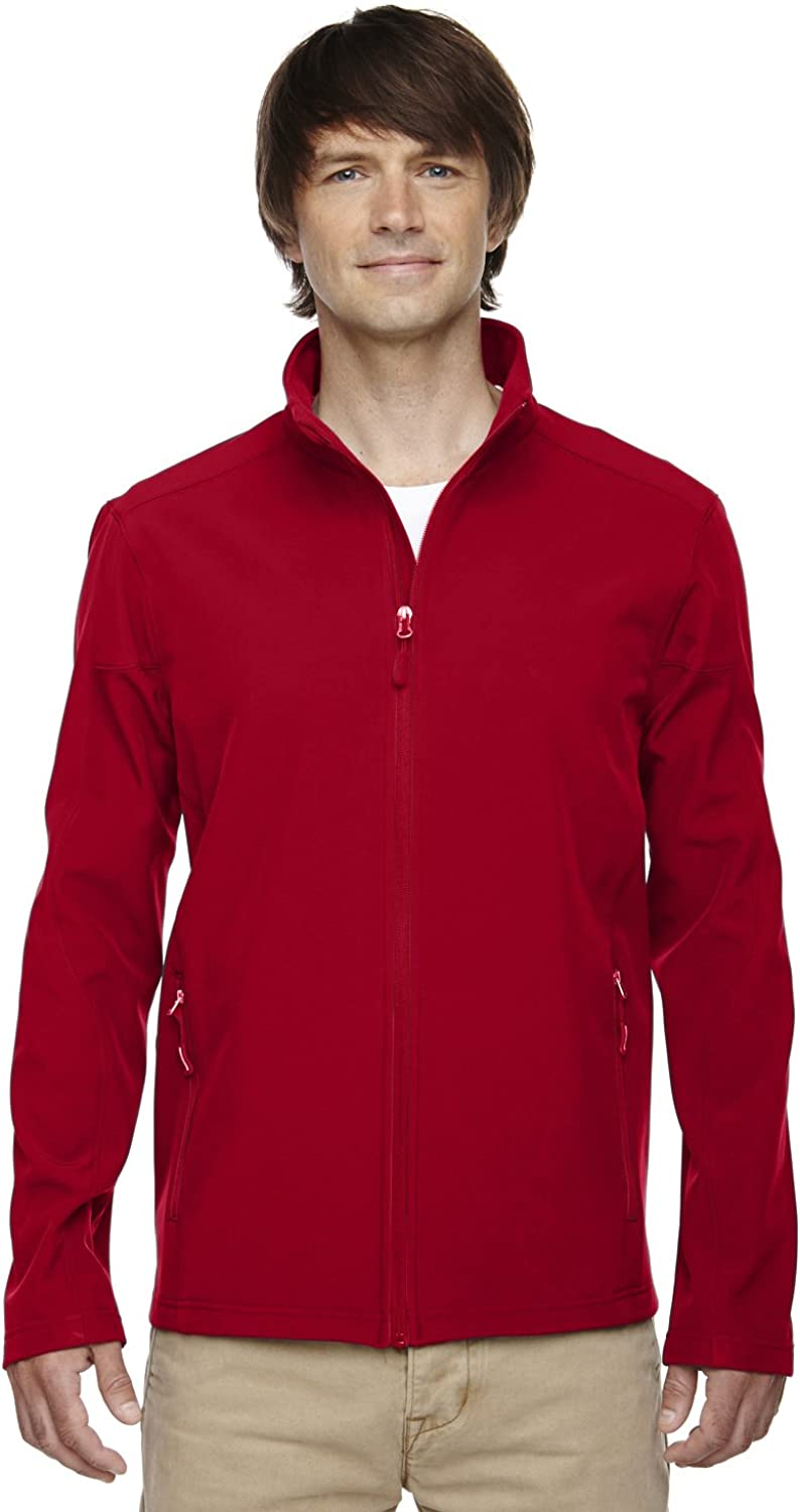 XXXXX-Large, Classic Red Ash City Mens Cruise Fleece Soft Shell Jacket