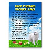 Great Pyrenees Property Laws Fridge Magnet