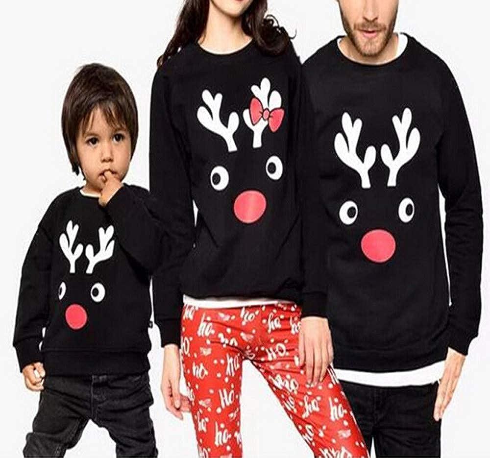 Moda Tops Familiares, Modaworld Camiseta Elk de Manga Larga para Padres y niños Ropa de Navidad para Familia con Estampado de Ciervos Tops Blusa: Amazon.es: ...