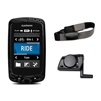 Garmin Edge 810 GPS Bike Computer with Heart Rate Monitor and Speed/Cadence  Sensor - Black