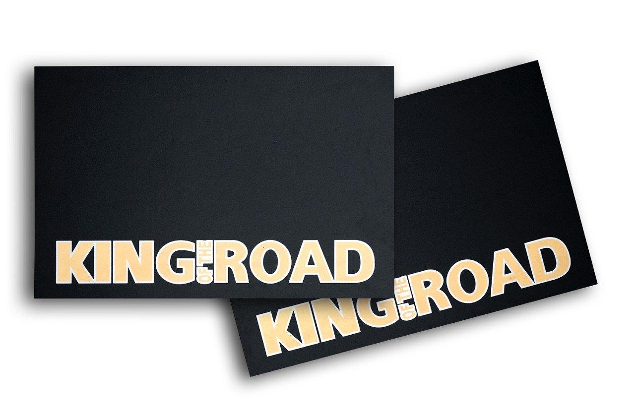 Schmutzfä ngerset'-King of the Road' (aus Hartgummi) (2 Stk.) Lä nge: 600mm Hö he: 400mm Dicke: ca. 6mm - schwere Ausfü hrung 3 kg. HANSEN STYLING PARTS