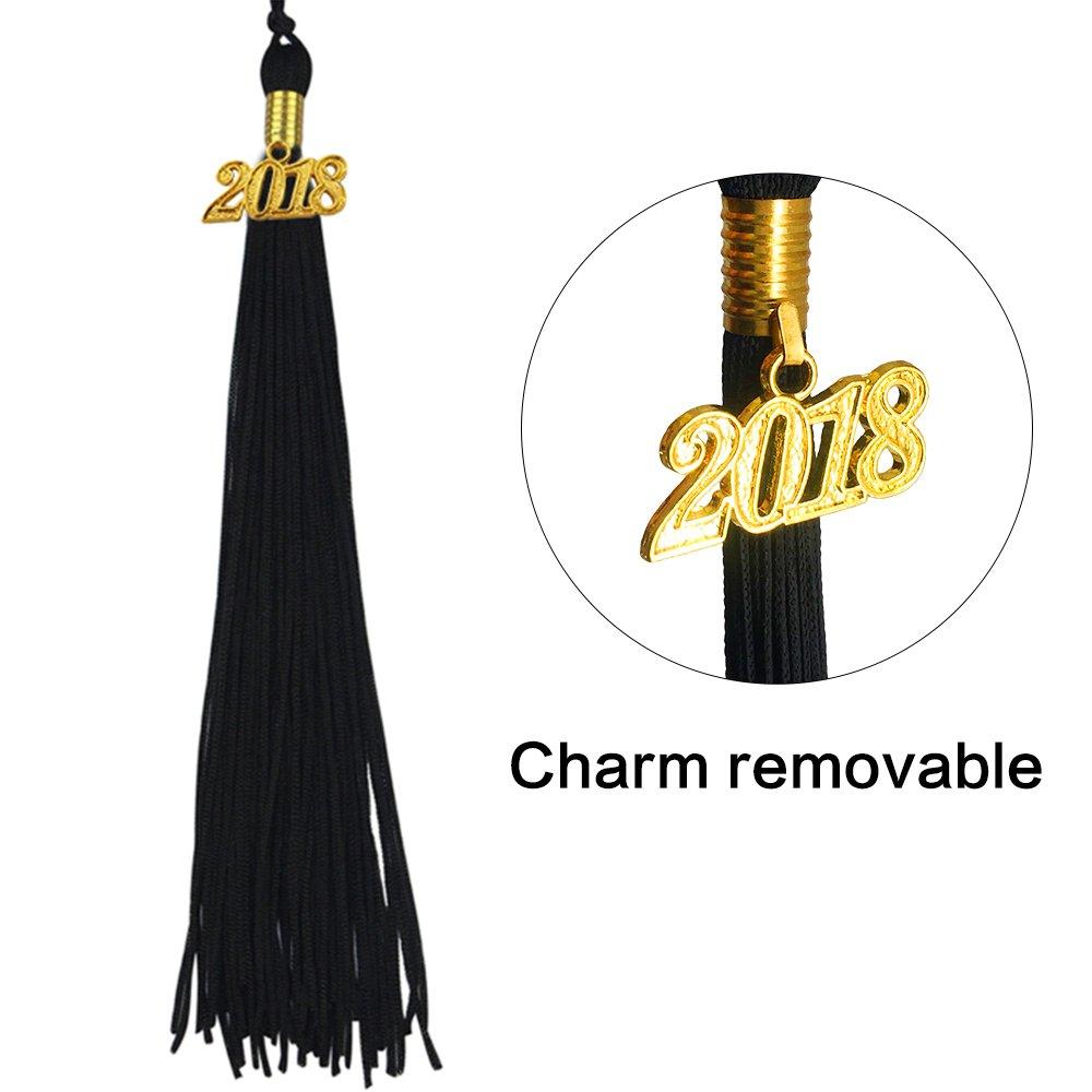 96dc3a61152 Graduationmall Matte Graduation Gown Cap Tassel Set 2018 For High School  and Bachelor Black 42(4 9