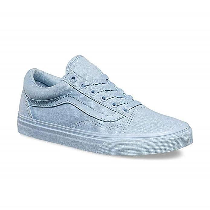 Vans Old Skool Sneaker Damen Herren Kinder Unisex Einfarbig Hellblau (Skyway)