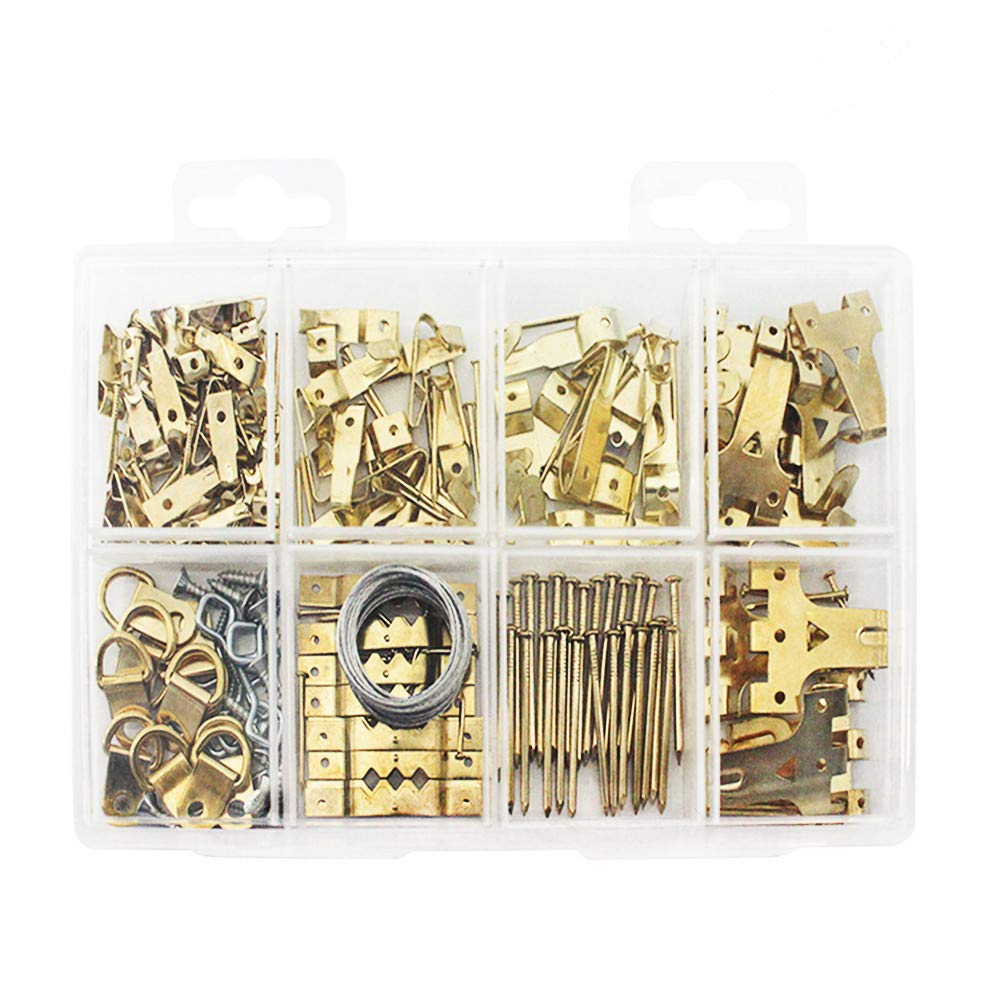 Heavy Duty Photo Frame Hooks, 220 Pieces Ultimate Picture Hanging Kit Picture Hanger Assortment Tool for Wall Mounting Hopttreely