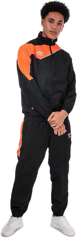 Umbro Divisi/ón Negro Naranja Hombre Negro y Naranja L