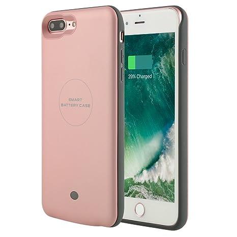 Recargable para iPhone 7 Plus, funda Cargador de batería ...