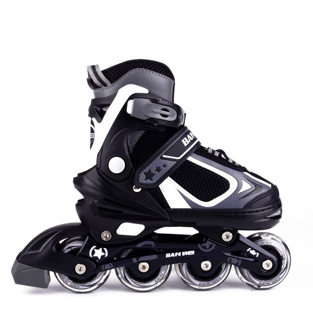 MammyGol Adjustable Inline Skates for Kids with Light up Wheels,Roller Blades for Boys and Girls Size 5-8