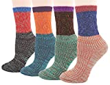 Women 4 Pair Pack Vintage Style Cotton Crew Socks