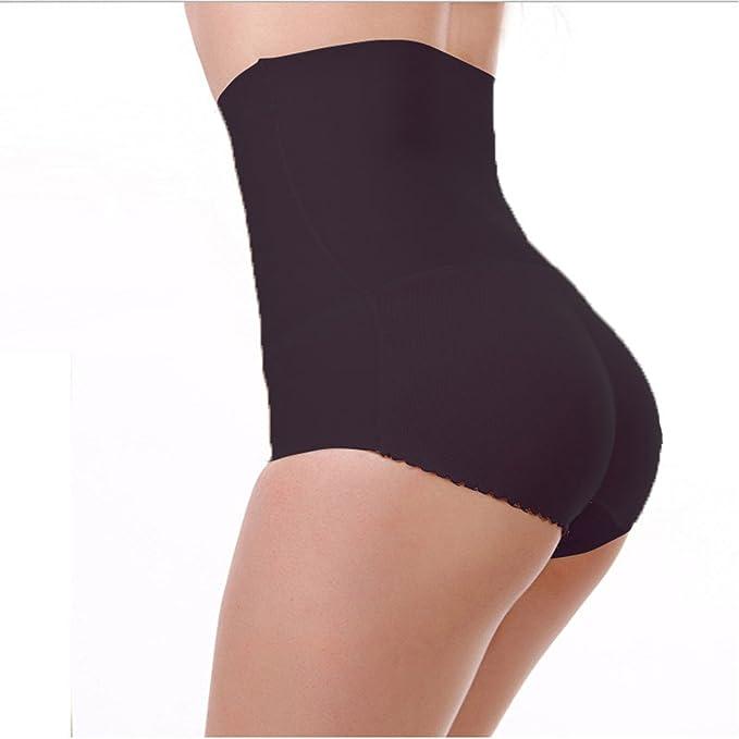 AFUT Ropa Interior Mujer Braga con Relleno de Cintura Alta Negro XL
