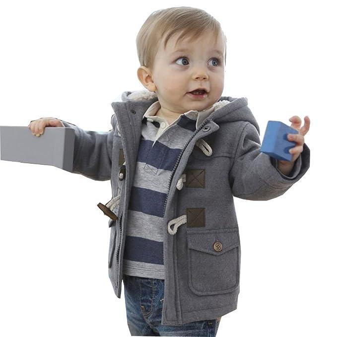 MissChild Abrigo de Capucha Bebé otoño Invierno, Chaqueta Ropa Manga Larga Acolchado Outerwear para Niños: Amazon.es: Ropa y accesorios