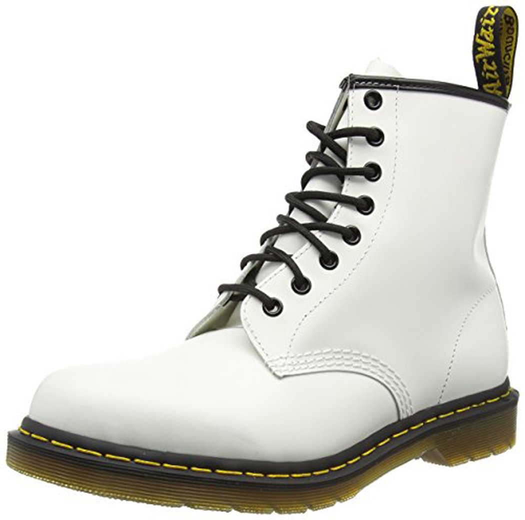 Dr. Martens Men's 1460 Classic Boot B000W41MO2 4UK / 5 US Mens / 6 US Womens, 37 EU|White Smooth Leather