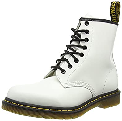 Clearance sale hot sale size 40 Dr. Martens 1460 Originals 8 Eye Lace Up Boot, White Smooth Leather, 3UK /  4 US Mens / 5 US Womens, 36 EU
