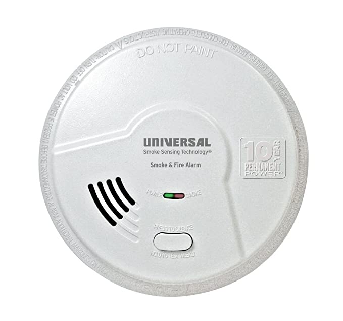 Universal Security Instruments 10 Year Tamper Proof Permanent Power Sealed Battery 2-in-1 Smoke and Fire Smart Alarm, Model MI3050SB - - Amazon.com