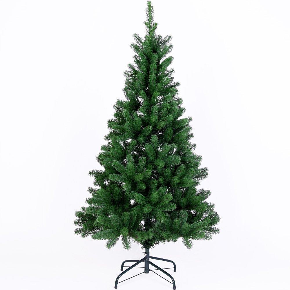 Deuba Weihnachtsbaum 140 cm Spritzguss   künstlicher Christbaum   Tannenbaum Stecksystem Weihnachten