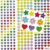 Lot de 348 Mini-Autocollants Holographiques Brillants - Idéal pour vos collages créatifs