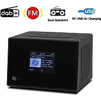 Ocean Digital DB825C DAB / DAB + FM Stereo Radio Bedside Wecker mit Farbdisplay - Schwarz
