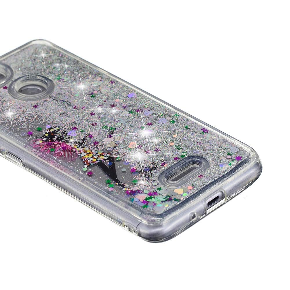 YuhooTech Xiaomi Redmi 6//6A Funda 3D L/íquido Bling Quicksand TPU Silicona Caso Cubierta Protectora Glitter Capas Caja C/áscara Shell-Rosa