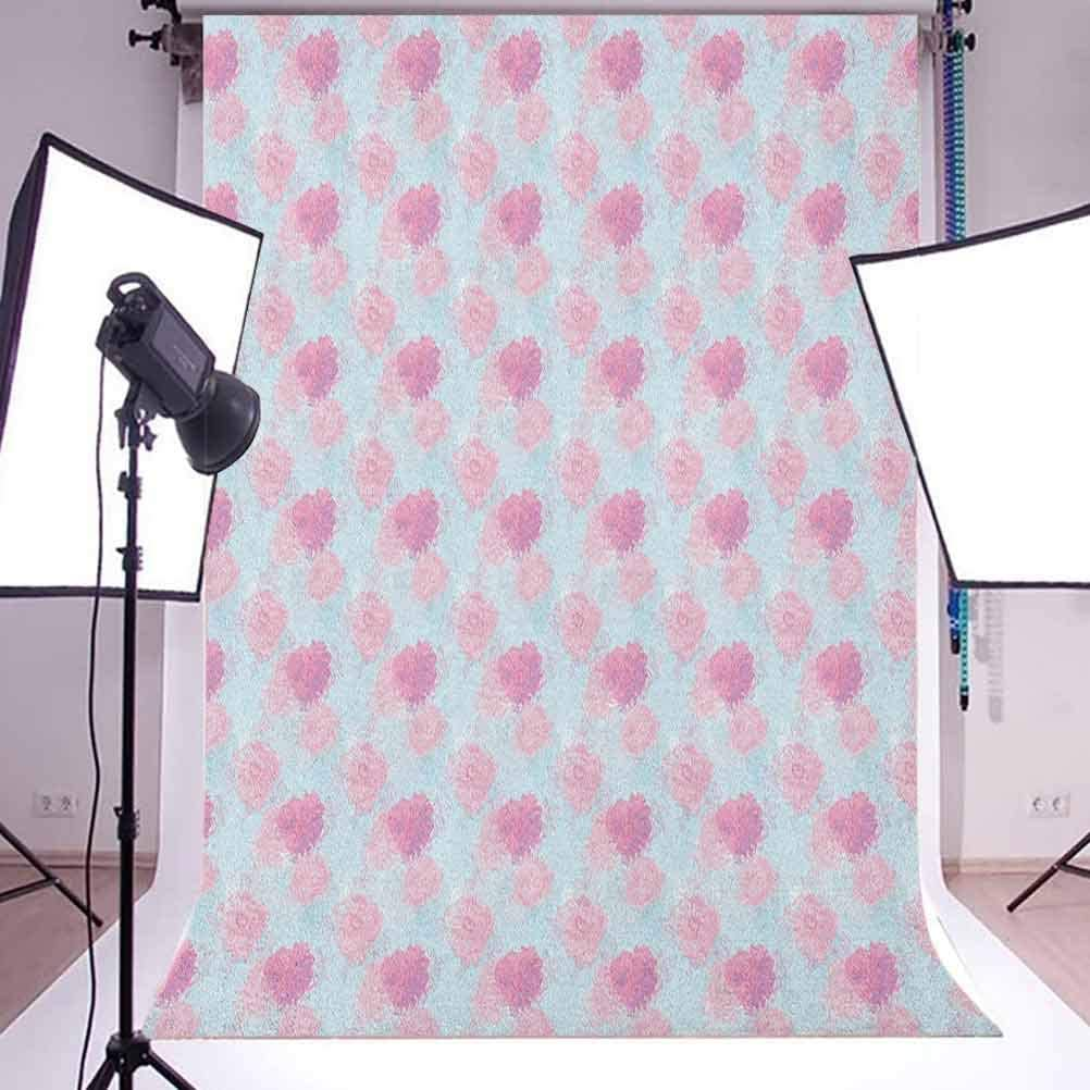 7x10 FT Vinyl Photography Background Backdrops,Vintage Inspirations in Sixties Style Spring Bouquet Pattern Abstract Foliage Leaves Background for Selfie Birthday Party Pictures Photo Booth Shoot