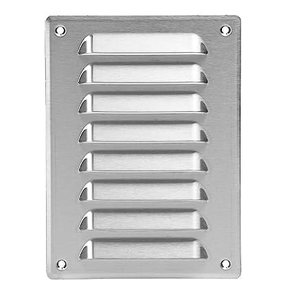 Rejilla de ventilación de acero inoxidable – 140 x 190 mm – Rejilla de ventilación – Rejilla de protección contra la intemperie – Con Protección ...
