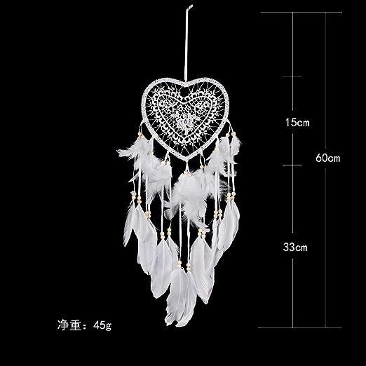 Heart Shape Feather Pendant LED String Light Dream Catcher Home Hanging Decor UK
