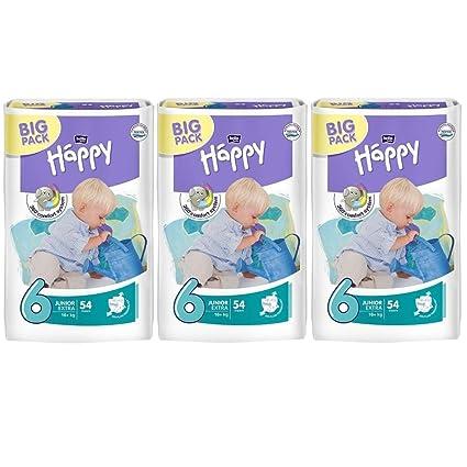 Bella Baby Happy extra Junior pañales Talla 6 meses Caja 16 + kg Pack de ahorro