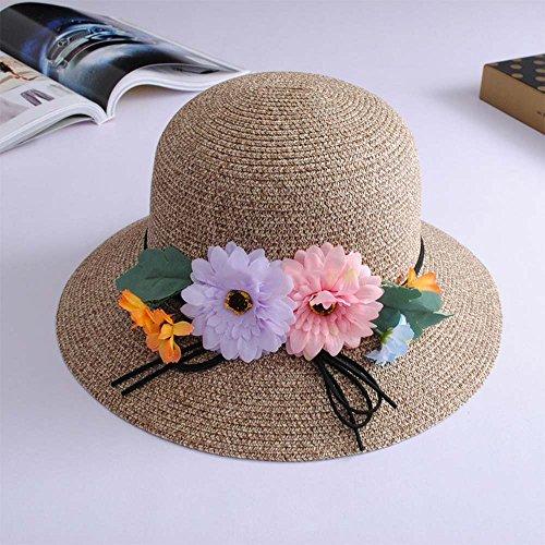 A Cappellino Colori 3 Polvere Tempo Chunlan Colore Mika Modo Libero Del Sole Selvaggio opzionale Cappelli Della Per Di Decorazione Paglia Fiore Il P4qnHR