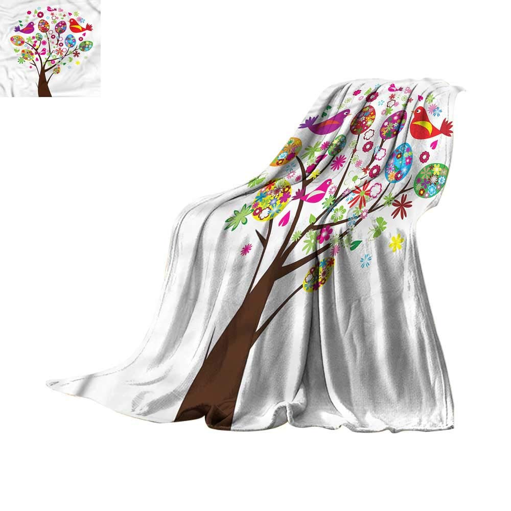 homehot Blanket Storage Birds,Abstract Animal Silhouettes 90'x70',Blankets for Baby