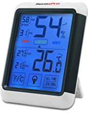 ThermoPro TP55 Digital Thermo-hygrometer with Larger Backlit Display, Monitor Temperature and Humidity for Comfort of Home and Office, Min/Max Records, Batteries Included, 2 Years Warranty