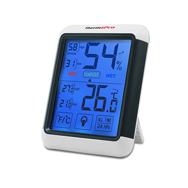 ThermoPro TP55 Digital Thermo-hygrometer with ...