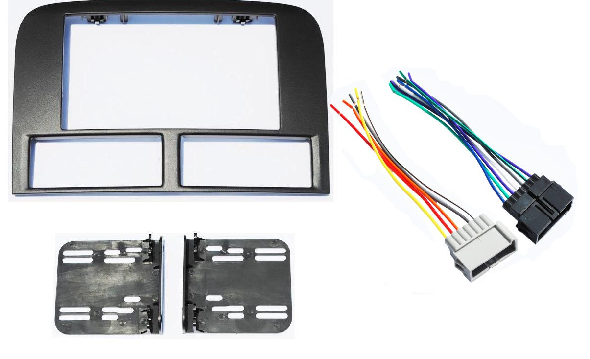 Jeep Grand Cherokee 1999 2001 Double Din Aftermarket 89 Wrangler Dash Wiring Harness Radio Stereo Navigation Bezel Installation Kit Car Electronics
