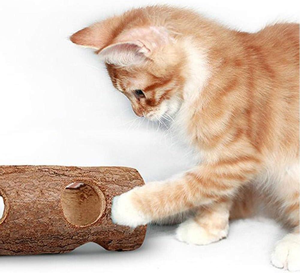 per criceti Gatti e Cani in Legno massello Tronco di Denti Topi Ritapreaty Gabbia a Tunnel per criceti per Conigli 15 cm Foresta Cava