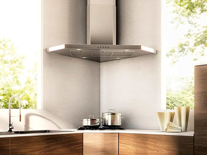 Franke Kitchen Systems FFC 905 XS - Extractor de humos de pared, formato en esquina, de acero inoxidable: Amazon.es: Hogar