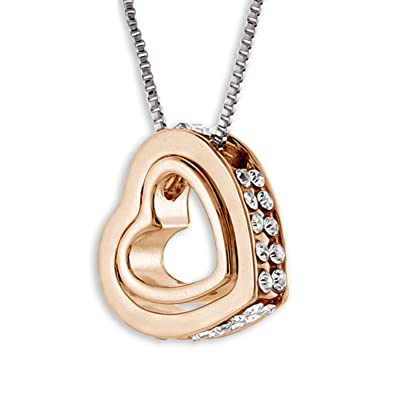 Amazon captivating devotion heart in heart crystal pendant jewelry captivating devotion heart in heart crystal pendant aloadofball Gallery