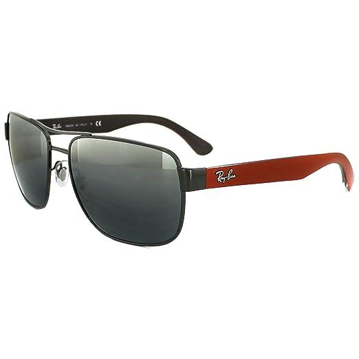 0aff47a8587 Amazon.com  rb Ray Ban Sunglasses 3530 004 88 Gunmetal Grey   Red ...