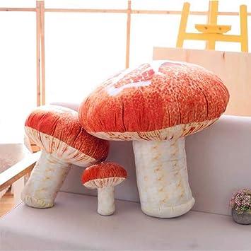 Amazon.com: Changsun - Almohada creativa con forma de seta ...