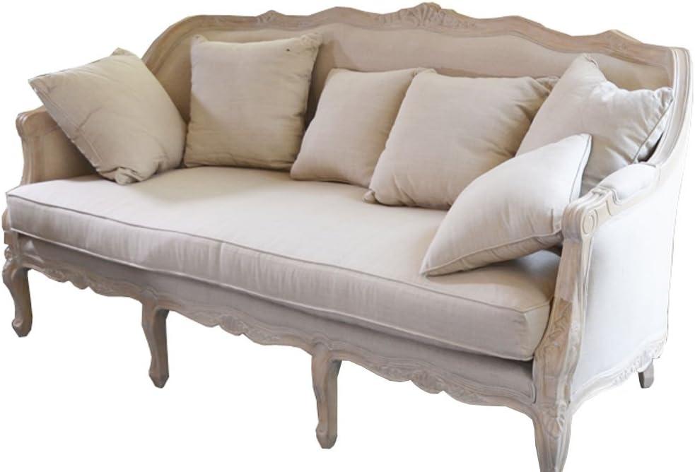 Elegante Landhaus Sofa 3 Sitzer Couch Wohnzimmer Vintage Creme Antik Retro Neu Amazon De Kuche Haushalt