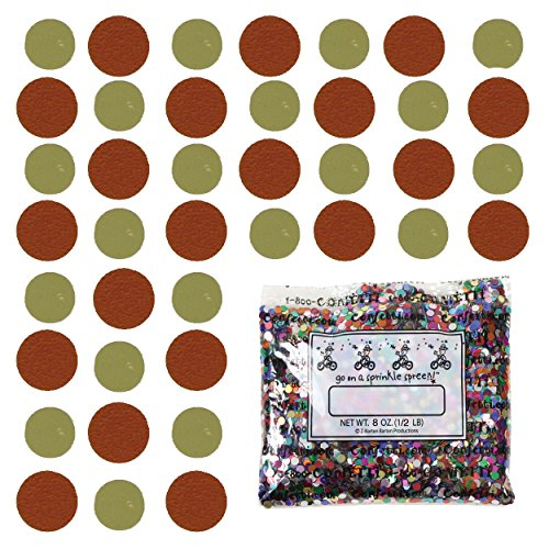 Confetti Circle 1/4'' Gold, Orange Combo - One Pound Bag (16 oz) Free Priority Mail --- (8552/8557) by Jimmy Jems