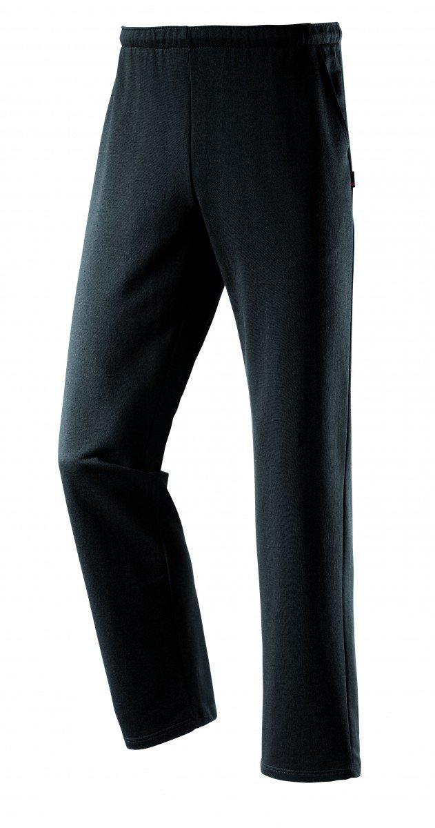 Schneider–Pantalón de Deporte Hombres Linz Tiempo Libre Deportes Pantalones de Fitness Negro