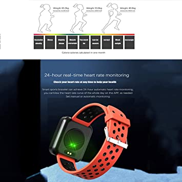 Amazon.com: S88 Men Women Smart Watch Reloj Inteligente Passometer Activity Fitness Heart Rate Sports Smartwatch Wristband,B: Electronics