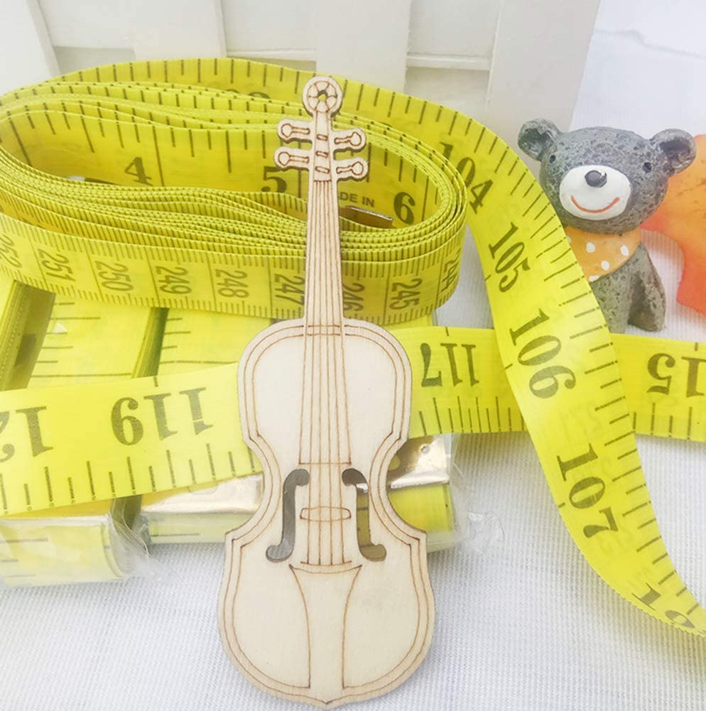 2Pcs 3m//118inch Yellow Soft Plastic Measuring Tape Professional Clothing Sewing Flexible Ruler for Home DIY Tailor Use