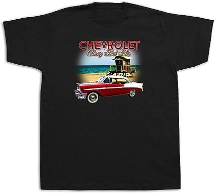 New Mens cotton Tshirt print Chevrolet chevy 1956 bel air Beach Sun Muscle Car