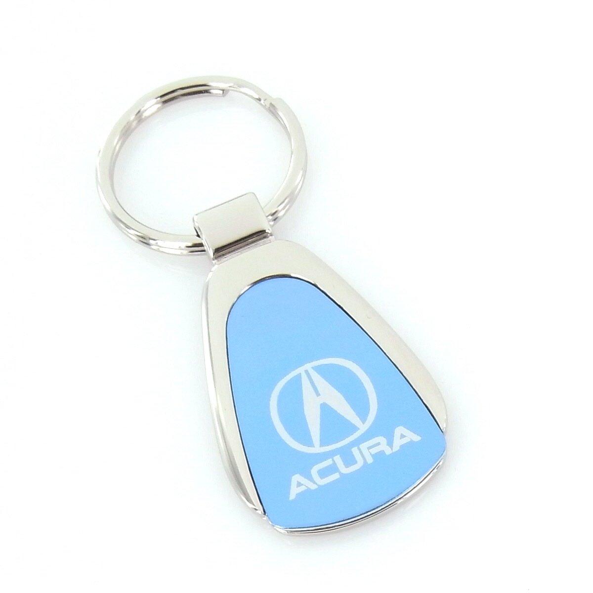 Acura Blue Tear Drop Keychain