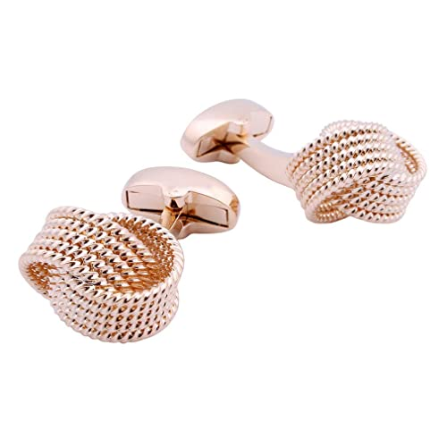 Gold And Silver Colour Knot Style Design Cufflinks Rope Cuff Links Gift New
