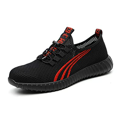 1b9b8760ffe77 Amazon.com: MARITONY Women Men Safety Shoes, Lightweight Breathable ...