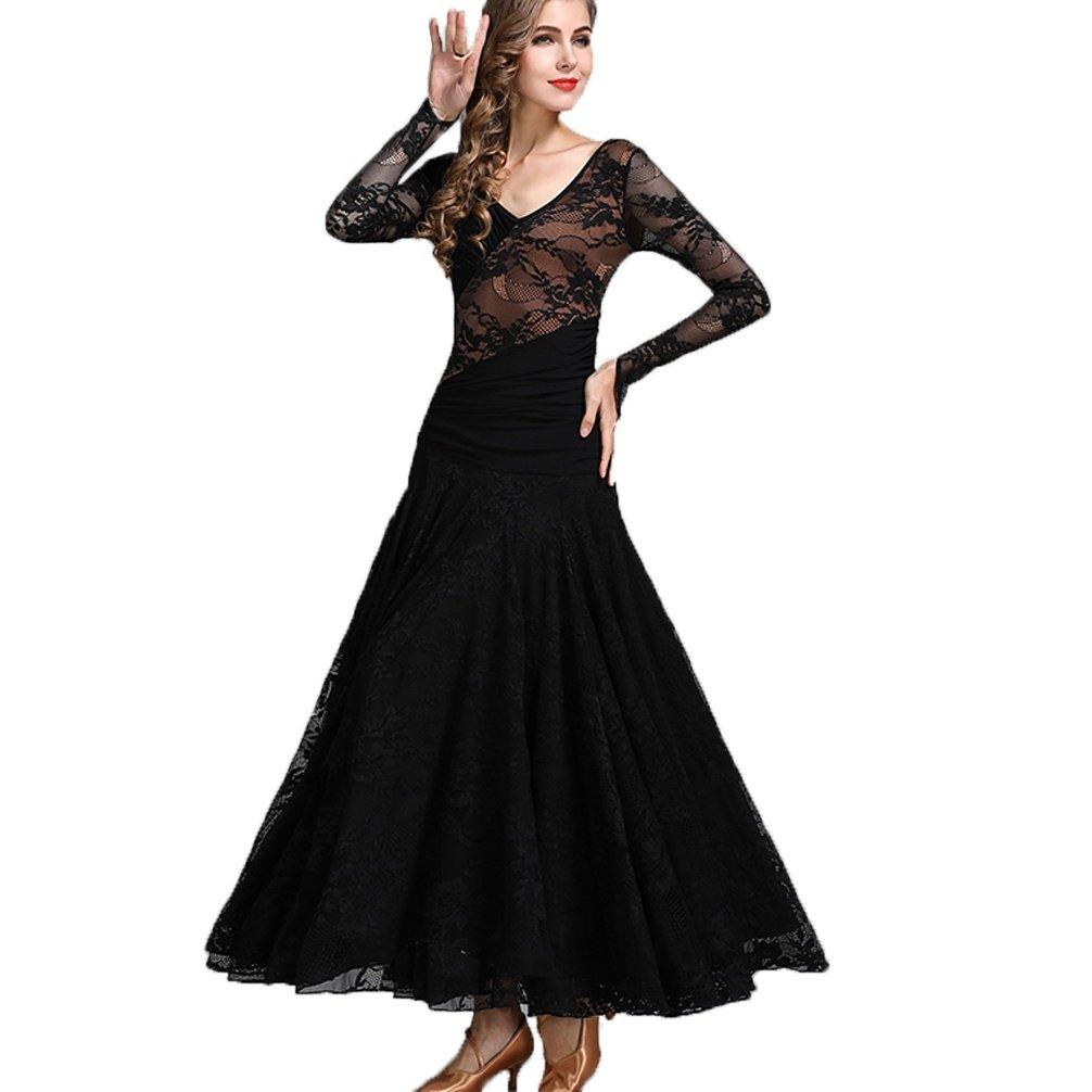 Nationale Ballsaal Tanz Kleid für Frauen Frauen Frauen Trainieren Voll Schnüren Lange Ärmel Wettbewerb Kleider Modern Walzer Tanz Outfit B07CN7QGQH Bekleidung Kaufen 70ef69