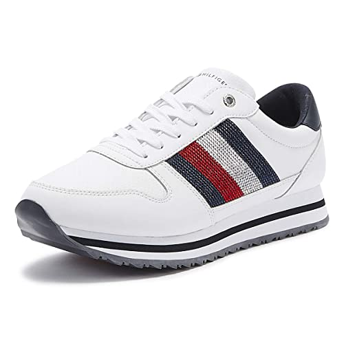 Tommy Hilfiger Tommy Retro Crystal Sneaker, Sneakers Basses Femme