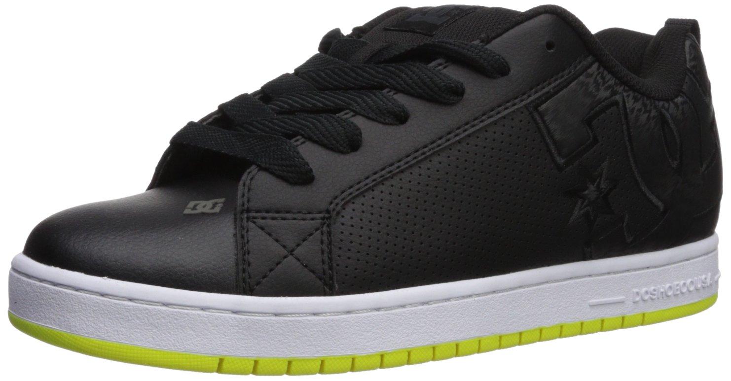 DC Men's Court Graffik Skate Shoe Black/Lime 6 D D US