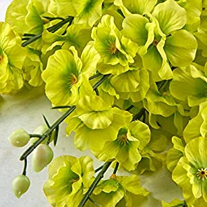 Factory Direct Craft Spring Green Poly Silk Delphinium Floral Bush | for Indoor Decor 2