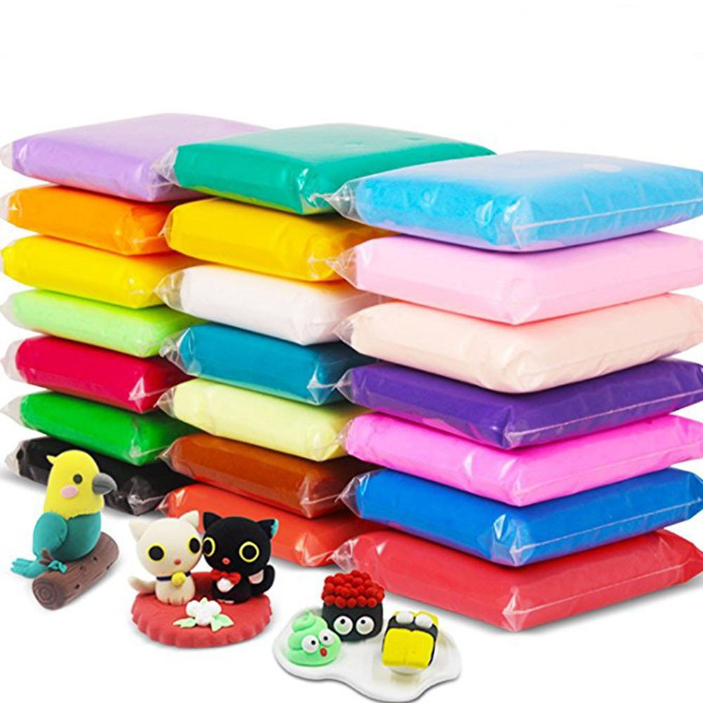 24 Colors Air Dry Clay Super Light DIY Clay for Model Air Dry Clay Fun Toy, Creative Art DIY Crafts, Gift for Kids Haawooky 4336842876