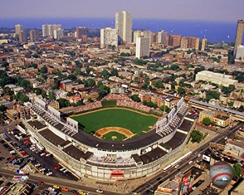 (Wrigley Field aerial view Photo Print (16 x 20))